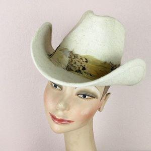 Vintage 1970's Resistol Western Cowboy Hat, Sz S
